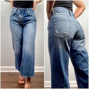 Zara highwaist wide leg culotte Jeans